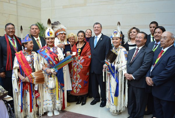 Congressman Cole with the Comanchee Tribe.