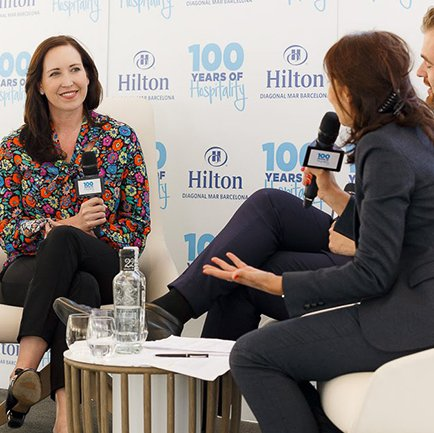 Katie sits on a panel as EVP and Global Head of Corporate Affairs at Hilton Hotels.