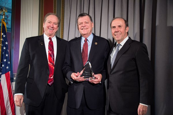 Congressman Cole receives America's Public Television Stations (APTS) presents their Champion of Public Broadcasting Award to Congressman Tom Cole.