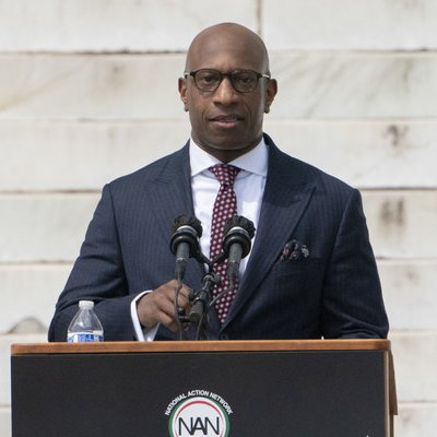 David Clunie rallied with Reverend Al Sharpton and the National Action Network, the NAACP, National Urban League, The National Coalition on Black Civic Participation, NAACP Legal Defense and Educational Fund, elected officials, and more at the Commitment March on Washington.